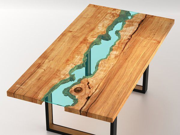 Live edge wood round dining room table with glass river 4 for Glass and wood dining table