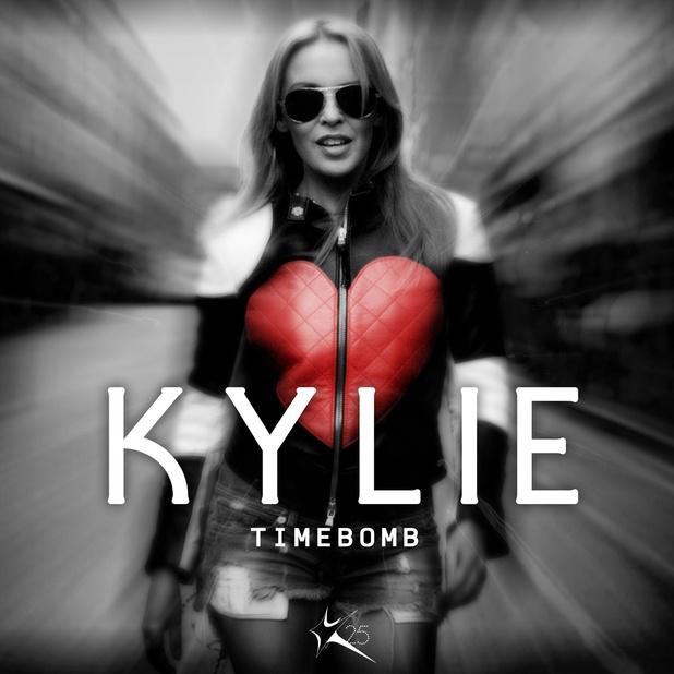 Kylie Minogue 'Timebomb' single artwork.