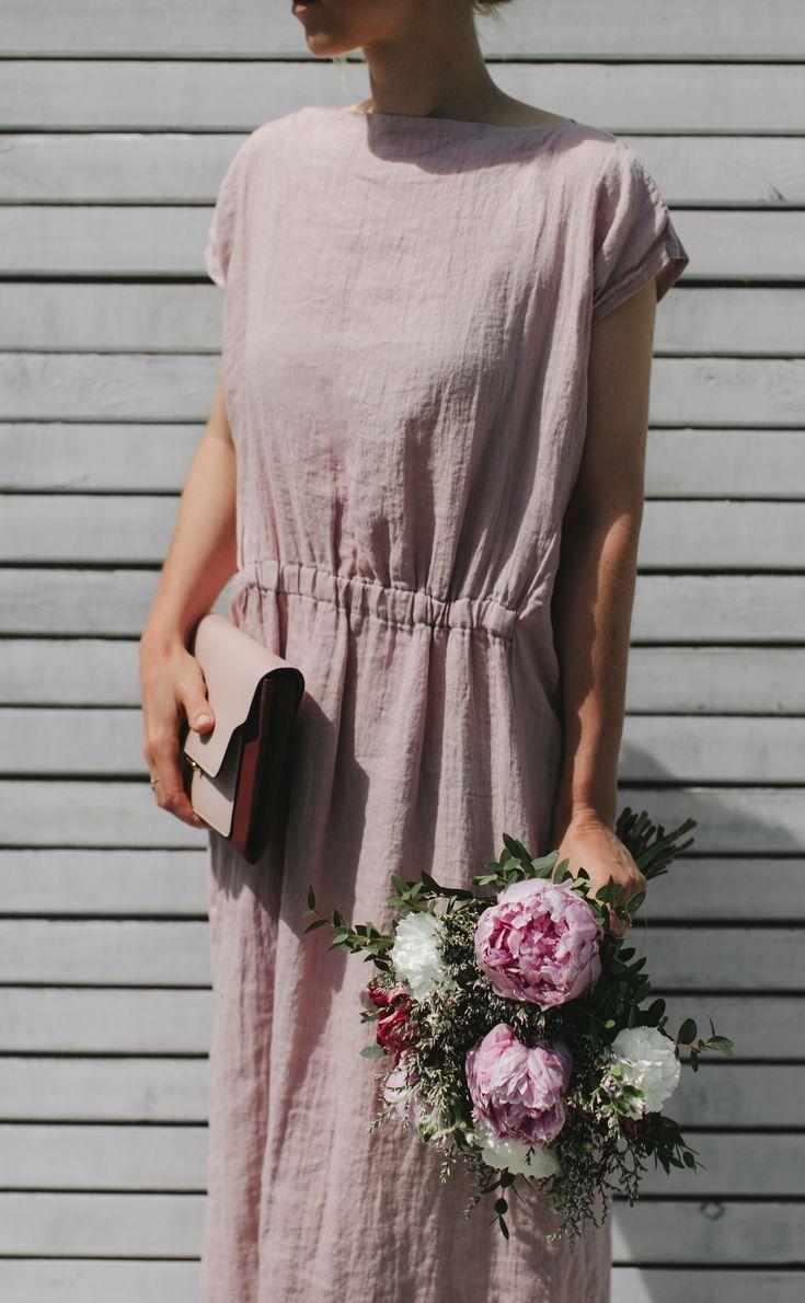 Linen Dress 102 Made From 100 Linen Pink Dress Long Linen Dress Linen Dress Pattern Cozy Dress Outfit