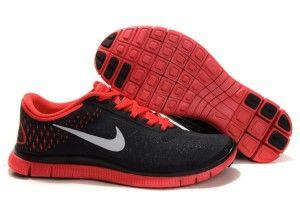 Nike Free 4.0 V2 Hombre Negro Rojo Zapatillas Online Comprar - Zapatillas Nike Free Baratas Online