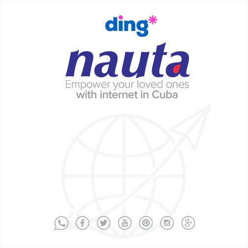 Empower a loved one in Cuba with the gift of internet! We are delighted to announce that Nauta is now live on www.ding.com/?utm_content=bufferfcee9&utm_medium=social&utm_source=pinterest.com&utm_campaign=buffer