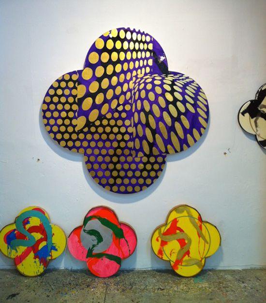 Max Gimblett's quatrafoils
