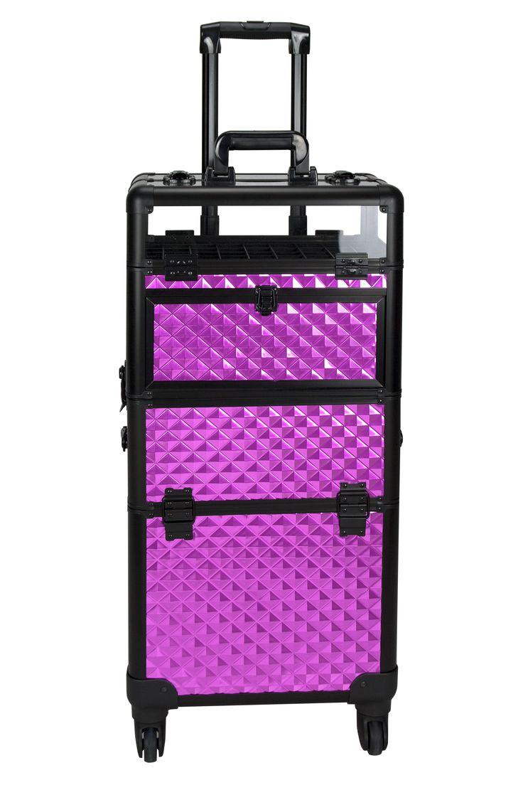 Gloriosa Purple-Diamond Rolling Makeup Case by Sunrise