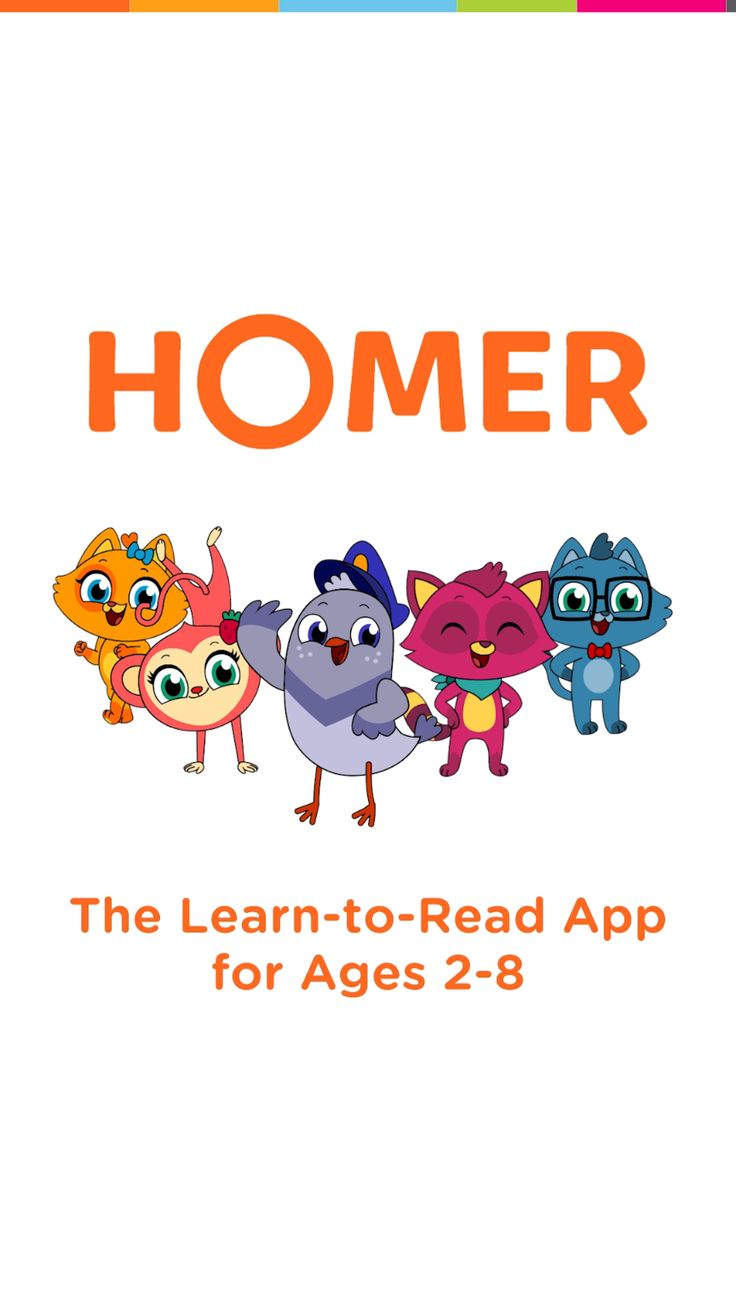HOMER is the learntoread app powered by your child's