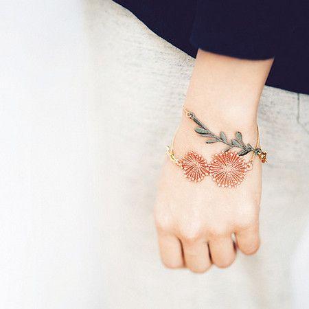 お花のブレスレット flower bracelet