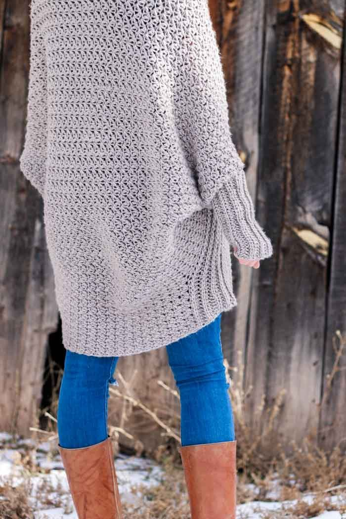 Free Beginner Crochet Sweater Pattern Tutorial Flowy Cardigan