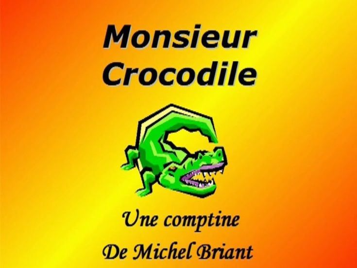 Monsieur crocodile