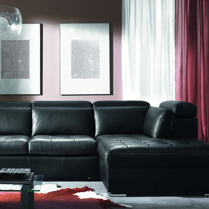 Living Room Design Ideas Black Leather Sofa