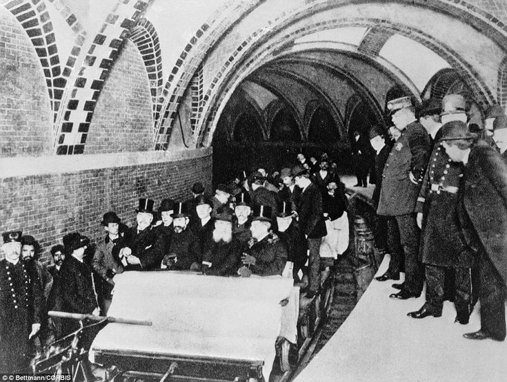 The first riders of New York City's first subway. [1904]