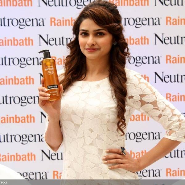 B'wood actress Prachi Desai gets clicked at the launch of shower and bath get Rainbath, held in Bangalore.