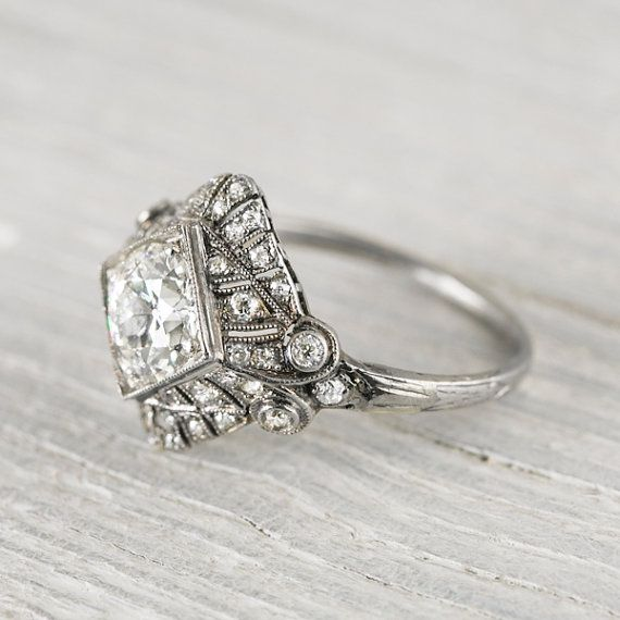 nobis coats Vintage 97 Carat Art Deco Engagement Ring