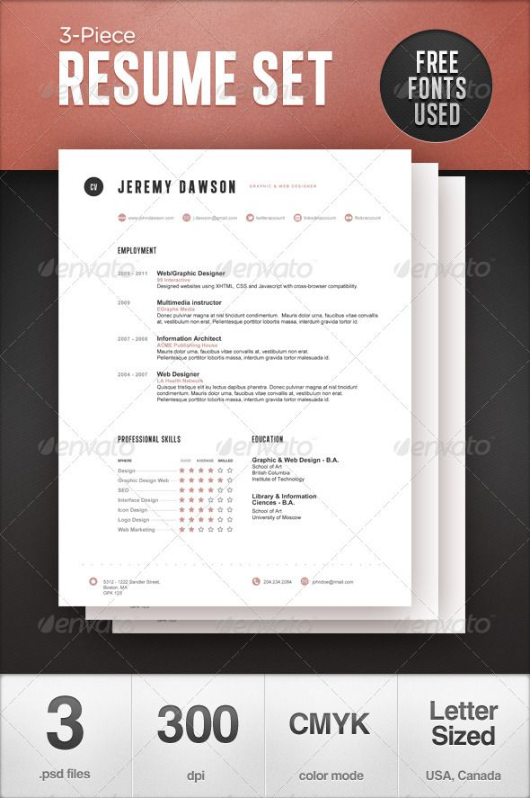 free stylish cv template word resume templates creative design download