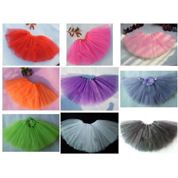 Tutu Ballet Tulle Fluffy Skirt Baby Girl Kids Dance Costume Draped Princess Wear #TutuBallet #TutuSkirt