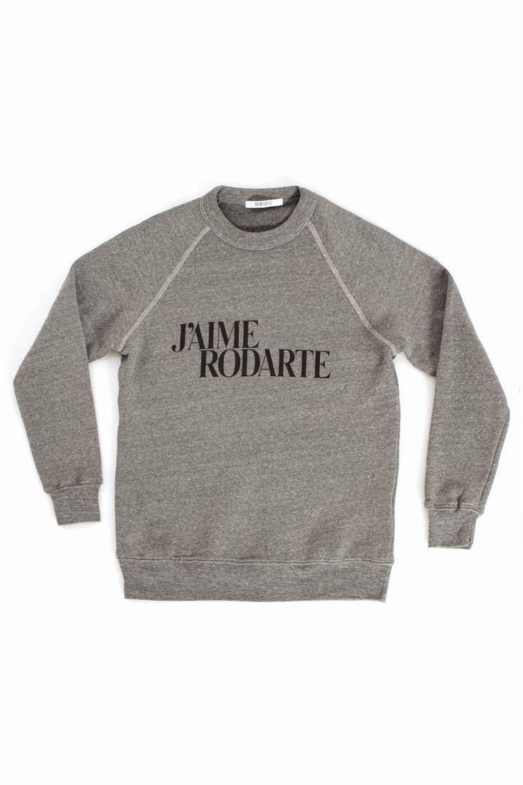 Rodarte Love Hate Crew Sweatshirt - HEATHER GREY | mens sweatshirt | menswear | mens style | mens fashion | wantering http://www.wantering.com/clothing-item/love-hate-crew-sweatshirt-heather-grey/afqya/
