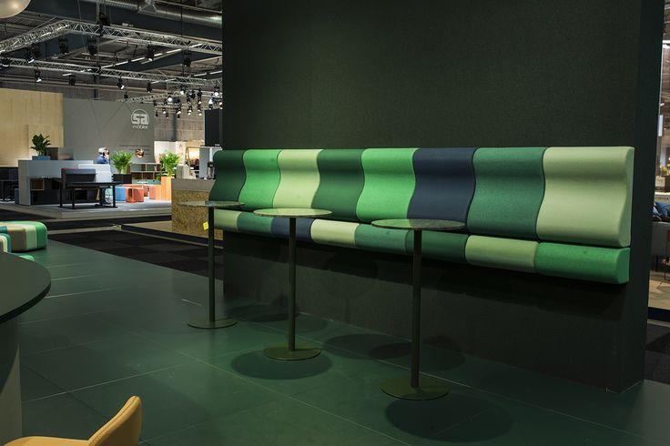 Lean In wall bench, design: Kaja Solgaard Dahl | Centrum table, design: Sandin & Bülow