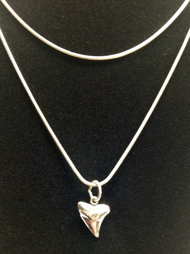Sterling Silver Shark Tooth Necklace by Channanigans on Etsy https://www.etsy.com/listing/252156532/sterling-silver-shark-tooth-necklace