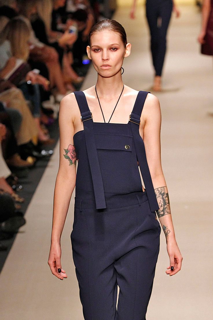 All The Tiny Tattoos We Spotted On The Runway #refinery29  http://www.refinery29.com/models-tattoos-runway-pictures#slide10  Here's Roxy Kiscinska's arm art in full display for Guy Laroche.