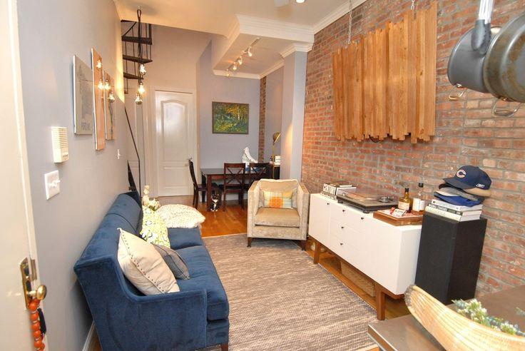 Contemporary Living Room - Slat wall decor