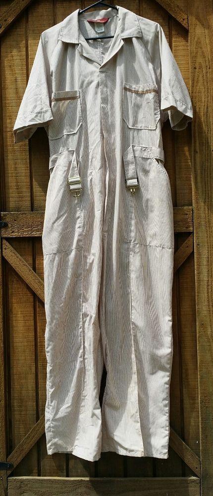 Parasuit Mechanics Coveralls Jumpsuit 48 Short Stripes Short Sleeve Elastic | Clothing, Shoes & Accessories, Uniforms & Work Clothing, Coveralls & Jumpsuits | eBay!