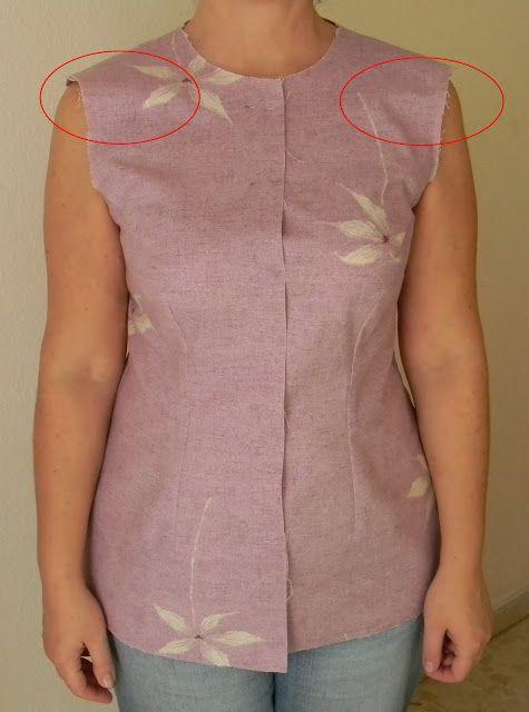 Шейте вместе со мной: Примерка: напряжение в плечевом поясе