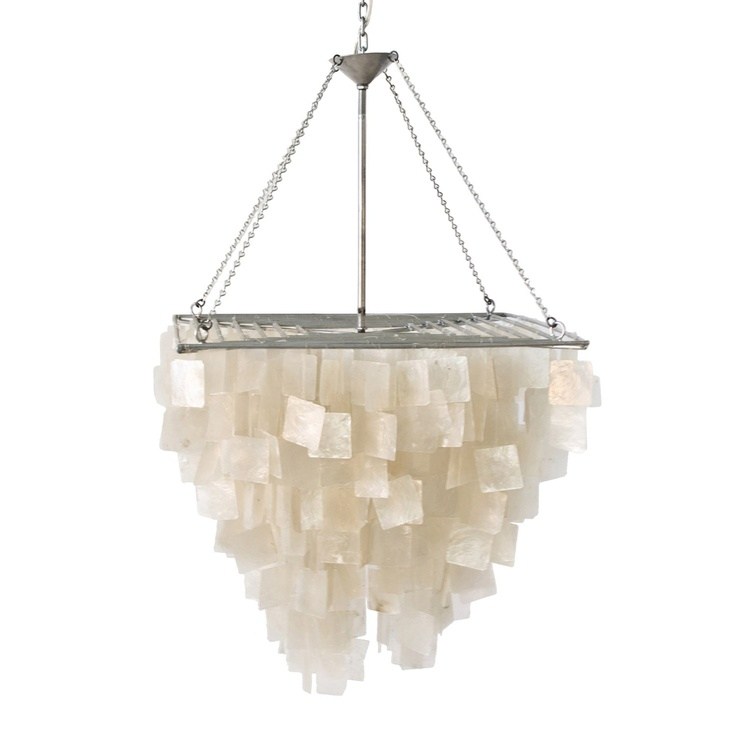 17 Best images about Lighting – Worlds Away Capiz Shell Chandelier