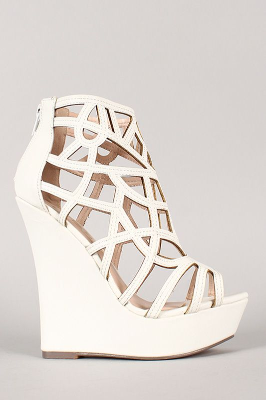 #white #wedge #wedges #booties