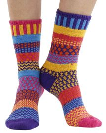Carnation recycled cotton multicolour odd-socks | Crafted by Solmate