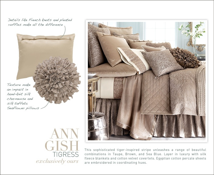 Ann Gish Tigress Collections Bed Bath Horchow Bed