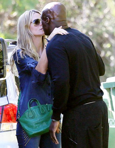 Kiss from an ex! Heidi Klum and Seal shared an affectionate moment when they reunited over the weekend to celebrate their daughter Lou's birthday...