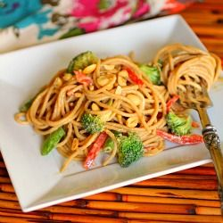 Cold Sesame-Peanut Noodle Salad is a flavorful, hearty dish perfect to serve in the summer months.
