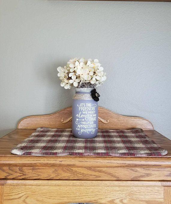 Friendship Gift Woman Womans Birthday For Friend Mason Jar Decor