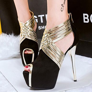 Shoes For Women Fashion Buckle Hollow Out Hin Thin Suede Stiletto Heel Comfort Pointed Toe Heels Party Evening Dress Dress