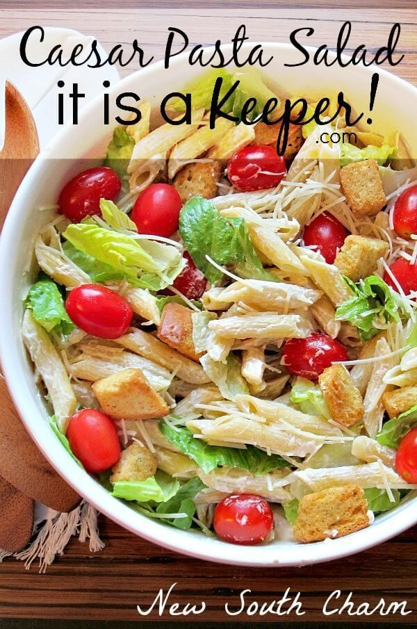This Caesar Pasta salad is one of my favorite easy recipes!