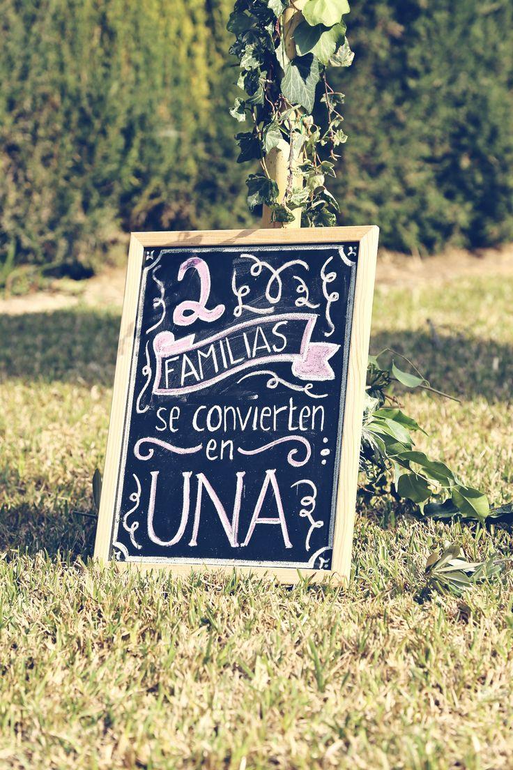 Letrero Boda. decoracion Las bodas de Marta
