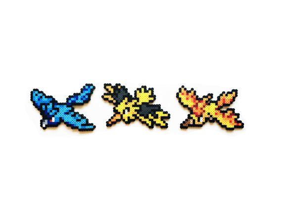 Pokemon Perler Articuno / Zapdos / Moltres by ShowMeYourBits