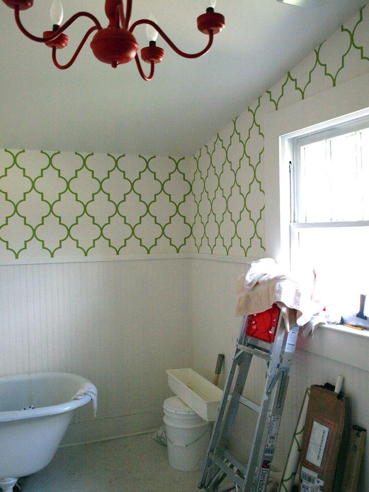 bathroom wallpaper border dancing - photo #13
