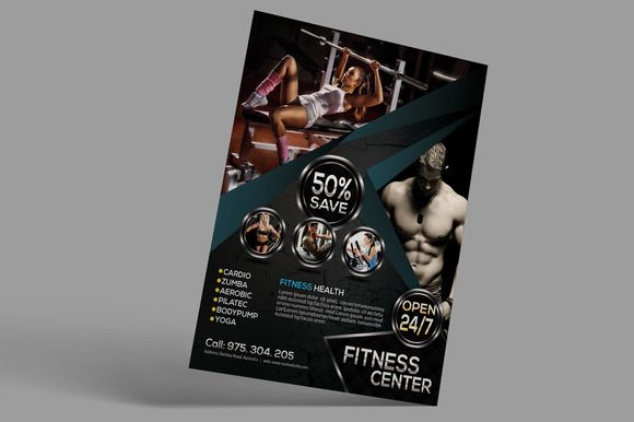 Fitness Flyer by designsoul14 on @creativemarket