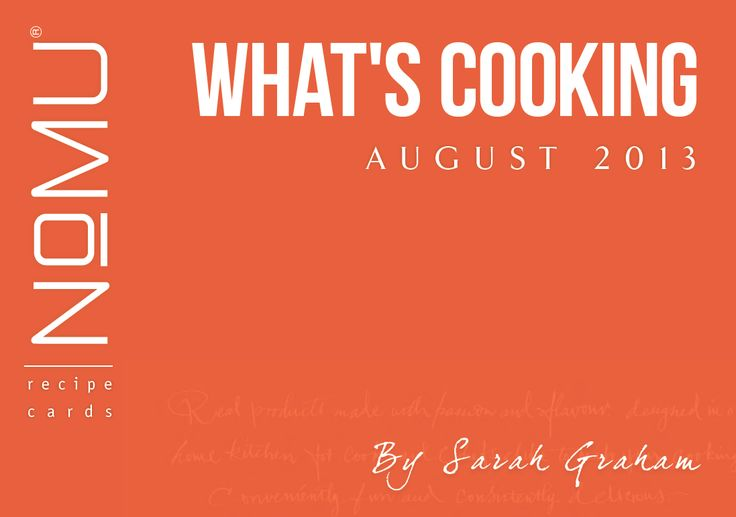 What's Cooking Recipe Cards | August 2013 | With Sarah Graham