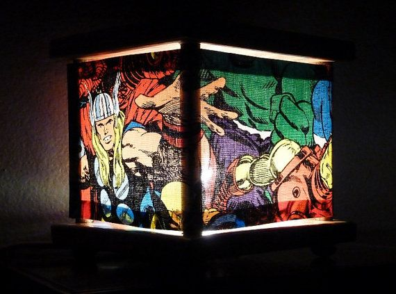 Superhero Lamp Marvel Comics Night Light Nightlight Lantern