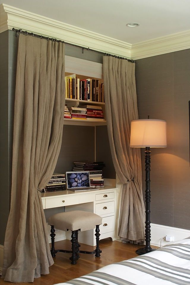 small space decorating... inspiration for closet to office conversion LYNNE-SCALO-DESIGN
