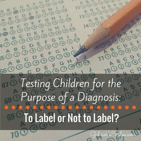 Testing Children for the Purpose of a Diagnosis- To Label or Not to Label-