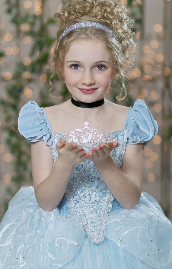 Rhinestone Tiara Disney Princess Inspired Crown Costume Accessory by Ella Dynae, $35.00