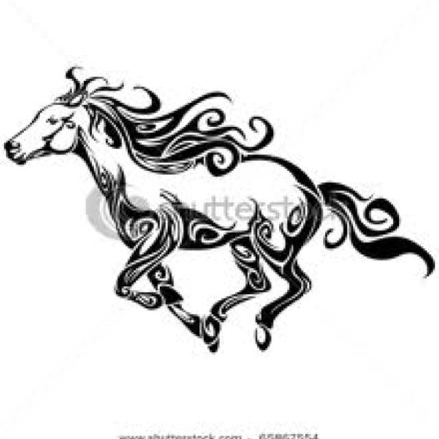 Tribal Horse Western Tattoos Pinterest Tattoos Tattoo Designs