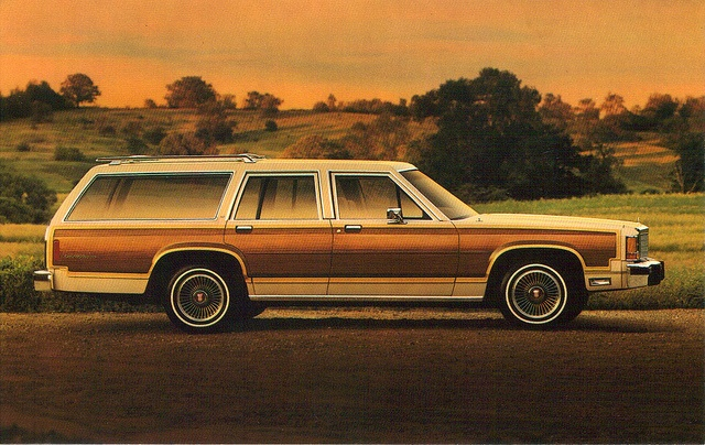 1986 Ford Country Squire Station Wagon- Looks quite familiar- Oh wait, that's what I drive! LOL