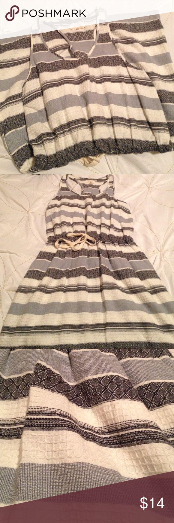 "🍉 Lou & Grey razorback dress Textured pattern razorback tank dress with easy drawstring waist. 16"" skirt. Lou & Grey Dresses"