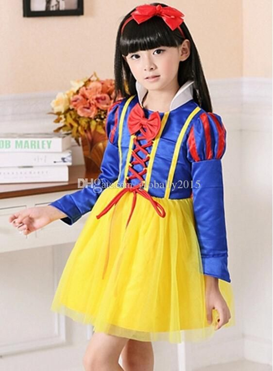 snow white princess dress costume for kid snow white fairy. Black Bedroom Furniture Sets. Home Design Ideas