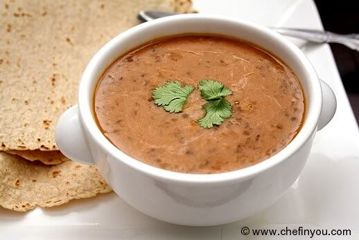 Mmmm... a dal makhani recipe with coconut milk substitute to make it vegan...