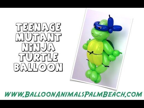 How To Make A Teenage Mutant Ninja Turtle Balloon - Balloon Animals Palm...