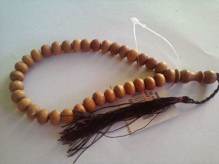Authentic Sandalwood 33 Muslim Prayer Beads with Natural Aromatic Smell