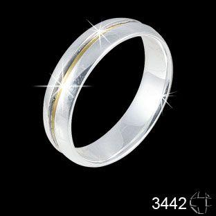 Aliança de Prata 0,925 com fio de Ouro 18K
